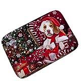 Badematten Set Clode® Cat Day Weihnachten Neujahr Teppichmatten Feuchtigkeit Dicke (F)