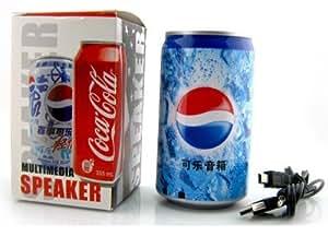 Soft Drink Pepsi Cola Beer Cane Shape MP3 Audio Songs FM Radio Multimedia Speaker
