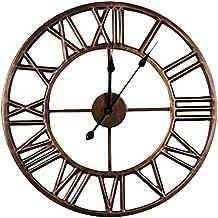 Uberlegen TIANT UK  Retro Metall Große Eisen Wanduhr Stille Kreative Persönlichkeit  Runden Wohnzimmer Dekoration Uhren