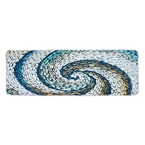 TOPBATHY Bodenmatte Rutschfeste Fußmatten Teppiche wasserabsorbierender Teppich für Badezimmer Küche Wohnzimmer 55 x 160 cm