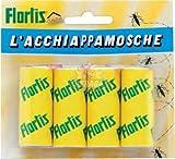Acchiappa trappola per mosche striscia adesiva blister da 4 pz Flortis