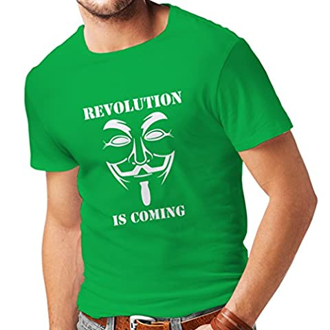 T-shirt pour hommes The Revolution Is Coming - the Anonymous