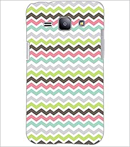 PrintDhaba Zig-Zag pattern D-2025 Back Case Cover for SAMSUNG GALAXY J1 (Multi-Coloured)