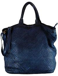 37f7685a8814d BOZANA Bag Naomi dunkelblau Italy Designer Damen Handtasche Tasche  Schafsleder Shopper Neu