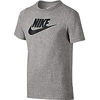 Nike CTN Crew FUT Icon TD YTH Camiseta, Niños, Gris (Dk Grey Heather/Black), L