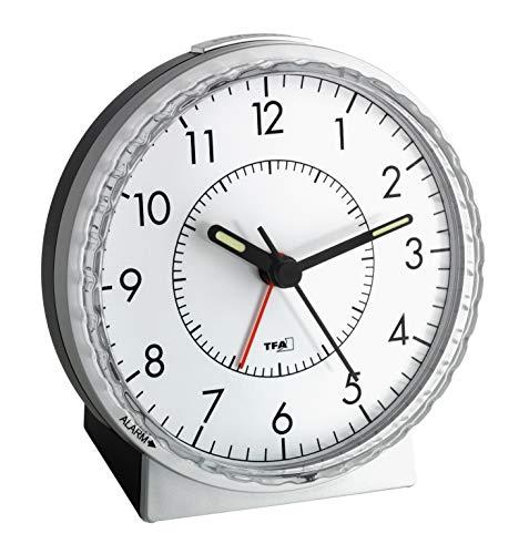 TFA 60.1010 Reloj Despertador electrónico Plata
