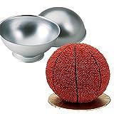 fellibay Kuchen Ball Maker Aluminium Halbkugel Tief Pandura Half Ball Kugel Bath Bomb Kuchen, Pfanne Dose Form zum Backen Teigform, Aluminium, silberfarben, 2.56*1.18in