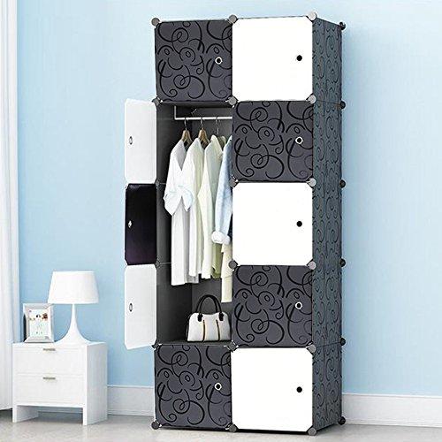Premag armadio portatile per appendere i vestiti, stanzino combinato, ripostiglio modulare per risparmio di spazio, cubo ideale per l'immagazzinamento di oggetti per libri (10-cubo)