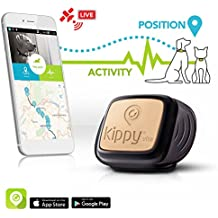 Kippy Vita, Rastreador de GPS y monitor de actividad para mascotas, Localizador GPS para perros y gatos, Negro (Black Guardian)