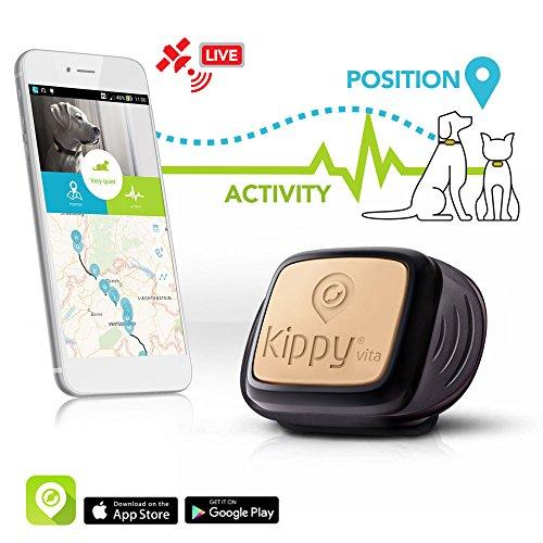 KIPPY Vita - Rastreador GPS de mascotas para perros y gatos, Negro (Black Guardian), talla única