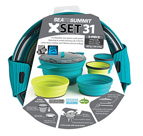 Sea to Summit XSET 31 5pc xpot 2.8L 2 xbowls. 2 XMUGS, Farbe Multicolour