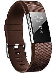 Hanlesi Fitbit Charge 2 Armband, TPU Silikon Einstellbare Ersatz Uhrenarmband für Fitbit Charge 2 Armbänder