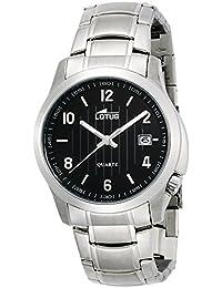 584d4c234f4b Lotus Reloj Analógico para Hombre de Cuarzo con Correa en Acero Inoxidable  15760 4