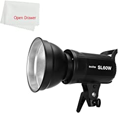 Godox SL60 60W 5600K Studio White Version LCD Panel LED Video Light (Black)