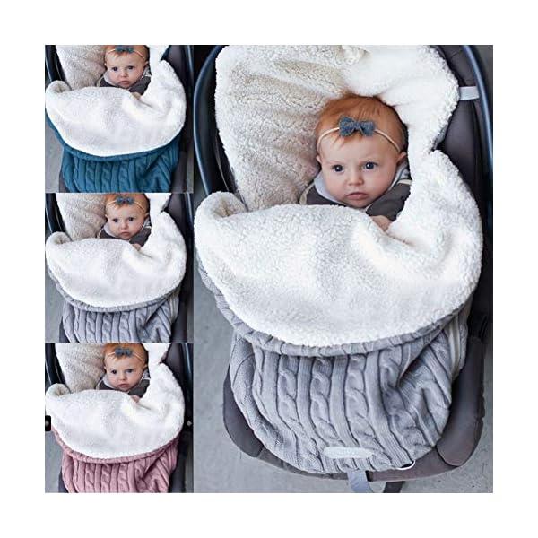 Baby Wrap Swaddle Manta Saco de dormir Niño Saco de dormir Cochecito de bebé Recién nacido Saco de dormir Niño de lana de punto Gancho con capucha Saco de dormir