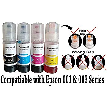 GoColor Compatible Refill Ink for Epson 001 Ink Printer L3110 L3150 L4150  L4160 L6160 L6170 L6190 L2700 L2750 L3700 L3750 L4750 Ink Tank Printer