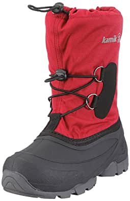 Kamik Southpole2 NK4859, Unisex-Kinder Schneestiefel, Rot (red RED), EU 34 (US 2)