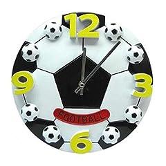 Idea Regalo - SODIAL Creative World Cup calcio soggiorno camera da letto orologio da parete moda moderna orologi decorazione orologio orologio da parete muto regalo