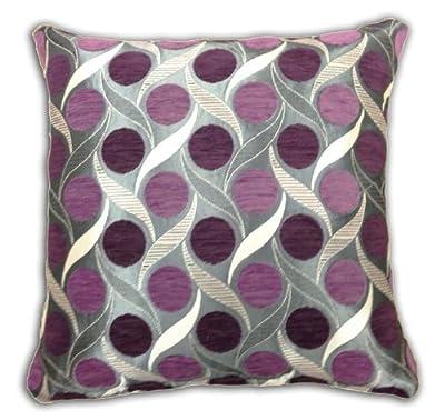 Emma Barclay Miami Chenille Spots Cushion Cover, Aubergine, 43 x 43 Cm - cheap UK light store.