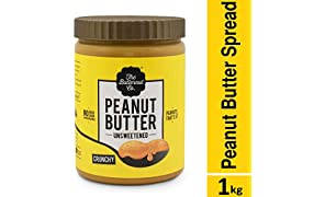 The Butternut Co. Unsweetened Peanut Butter - Crunchy (1 KG)