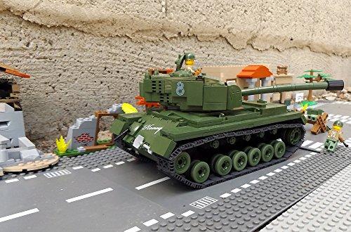 ★ World of Tanks 3008 – Bausteine US ARMY Panzer, 525 Teile, schwerer Kampfpanzer M46 PATTON, inkl. custom US ARMY Soldaten aus original Lego© Teilen ★ - 4