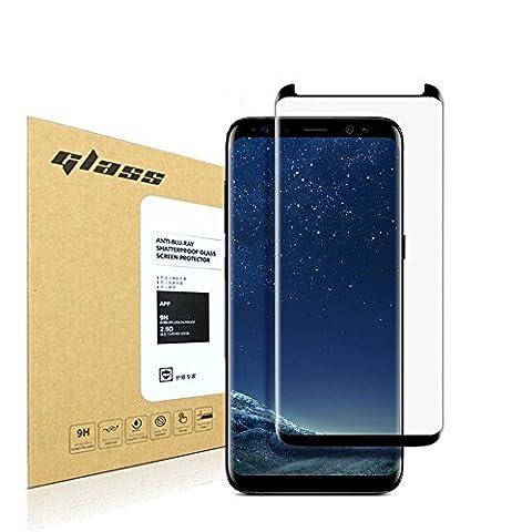 Samsung Galaxy S8 Protecteur d'écran,HoPerain[couverture 3D] [verre trempé]9H dureté Protecteur d'écran,Anti Scratch,Anti-empreintes digitales