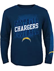 """San Diego Chargers Youth Jeunes NFL """"Frequency"""" Long Sleeve T-Shirt Chemise"""