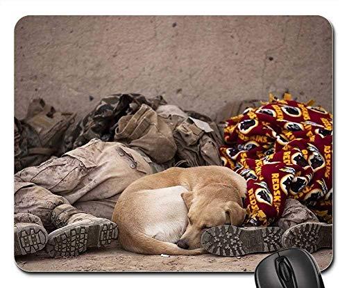 Rest Touchpad (Mauspads - Militärsoldaten, die Rest-Hundehund schlafen)