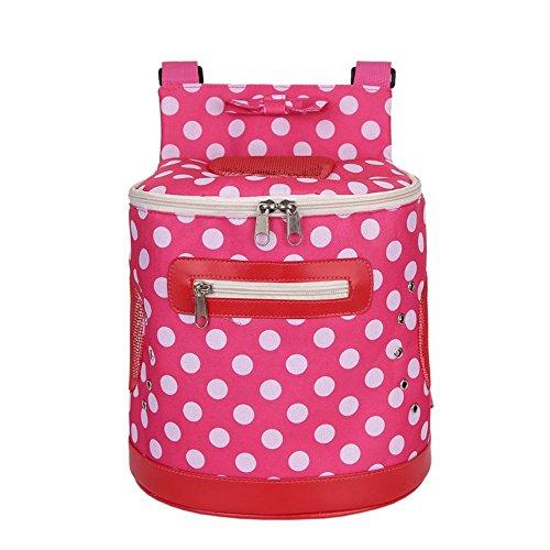Dixinla Pet Carrier Rucksack Polyester Polka Dot Rucksack Pet Doppelter Schultergurt Bag, 28* 18* 26cm, C -