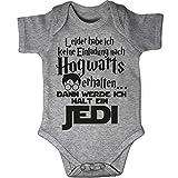 Mikalino Babybody Kurzarm Leider Habe Ich Keine Einladung Nach Hogwarts Erhalten. Dann Werde Ich Halt Jedi, Farbe:Heather, Grösse:62