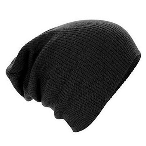 Knitting calda lana Cappello - iParaAiluRy Unisex moda morbido Slouchy Cap proteggere le orecchie in inverno e primavera