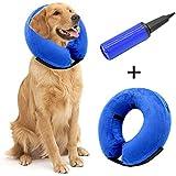 Hanko Aufblasbares Tier Schutzkragen Halskrausen Leckschutz für Hunde & Katzen in der postoperativen Wiederherstellung (Mit Einem Inflator)