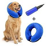 Hengu Collari Recupero Gonfiabile protettivi e Coni per Cani Gatti Animali Domestici, Prevenire da leccare Le ferite commoventi (con Un Dispositivo di gonfiaggio)
