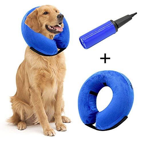 Hengu Collar Inflable de recuperación de Mascotas, Cuello Blando Ajustable para Gatos...