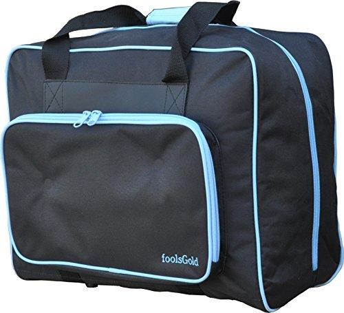 FoolsGold Pro dick gepolsterten Nähmaschine Tasche Tragetasche - Schwarz/Blau