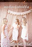 trlyc 125cm*215cm schimmernden Glanz Pailletten Stoff Fotografie Hintergrund für Hochzeit auf Verkauf Farben sind erhältlich, Sonstige, Champagner, 4ft*7ft Pailletten Vorhang/Hintergrund