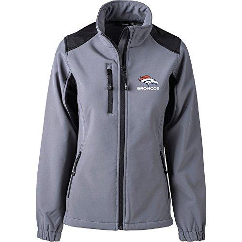 NFL Denver Broncos Damen Softshell Jacke, Größe L, graphit (Broncos Jacke)