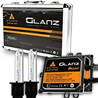 Kit di Conversione HID, AFTERPARTZ® Glanz AC 55W 6000K con 3 Secondi 100% Completa Rapida Light Up HID Faro Allo Xeno Lampadina (H7) - 9006 Xenon Hid Fari