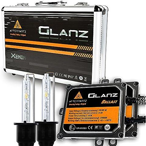 Kit de Conversión HID, AFTERPARTZ® Glanz AC 55W 6000K de Inicio Rápido con 3 Segundos 100% por Completo Light Up HID XENON Bulbo de La Linterna