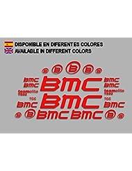 PEGATINAS BMC F167 VINILO ADESIVI DECAL AUFKLEBER КЛЕЙ MTB STICKERS BIKE (ROJO)