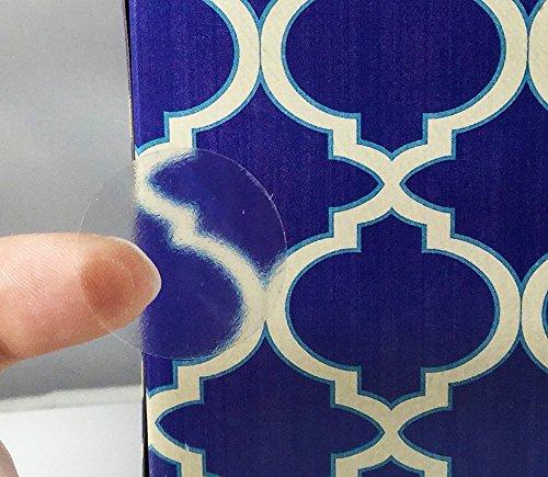 Claro Transparente Circulo Punto Pegatinas, 25 mm 1 Pulgada Redondo, 500 Etiquetas en un Rollo