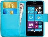 Nokia Lumia 630 / 635 Hülle Leder Klapphülle mit