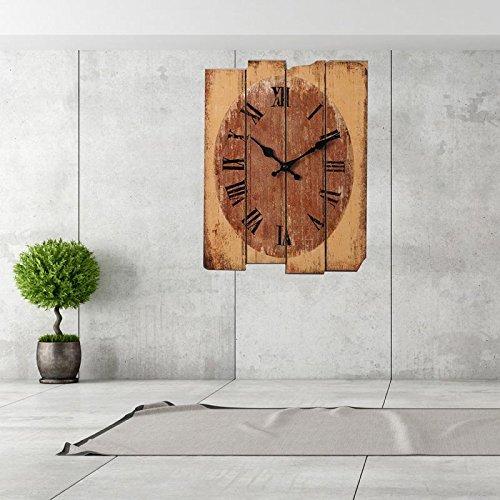 Uhren von Wand Start Vintage Rustikal Wand-Holz Holz Digital Uhren 4 Vintage-sonnenblume-dekor