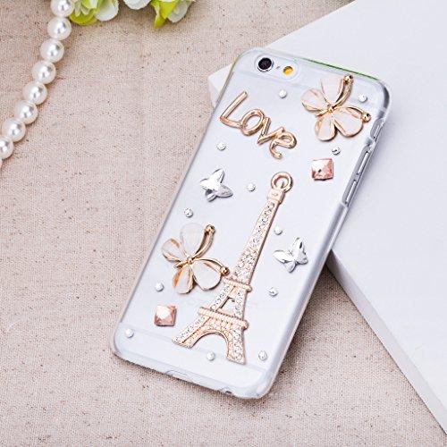Infinite U Bijoux Rétro 3D Brillant Strass Tour Eiffel Coque/Case de Protection du Téléphone Portable pour iphone 6 en 4.7 Inch Femme 2-iphone 6/iphone 6s case