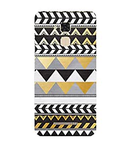 PrintVisa Designer Back Case Cover for Asus Zenfone 3 Max ZC520TL (5.2 Inches) (Zig zag Design :: Triangle Design :: Stylish Color Design :: Trendy Design wallpaper :: Nice Color Design)