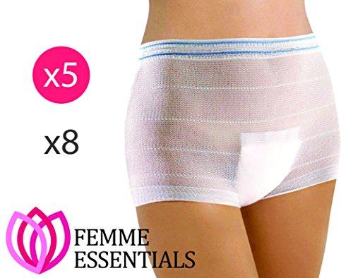 Krankenhaus Slip - Wochenbett Panties - Hospital Panties - waschbare Wöchnerinnen Damen Slips für Schwangerschaft & nach der Geburt (5) (Panty Zurück)