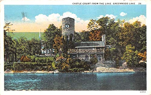 Castle Court From the Lake Greenwood Lake, New York Postcard Castle Court Castle