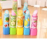 #9: Infinxt Lipstick Shape Eraser For Kids And Gift Set of 6