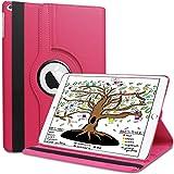 HBorna 360° Hülle für iPad 9.7 Zoll 2018 2017 / Air2 [Auto Schlaf/Wach Funktion], Schutzhülle Tasche mit Leichte Ständer für 9,7 Apple iPad 2018/2017 / iPad Air 2 / iPad Air, Hot Pink