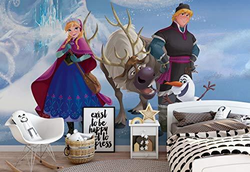 Wallsticker Warehouse Disney Frozen Vlies Fototapete Fotomural - Wandbild - Tapete - 254cm x 184cm / 2 Teilig - Gedrückt auf 130gsm Vlies - 827V4 - Disney Die Eiskönigin